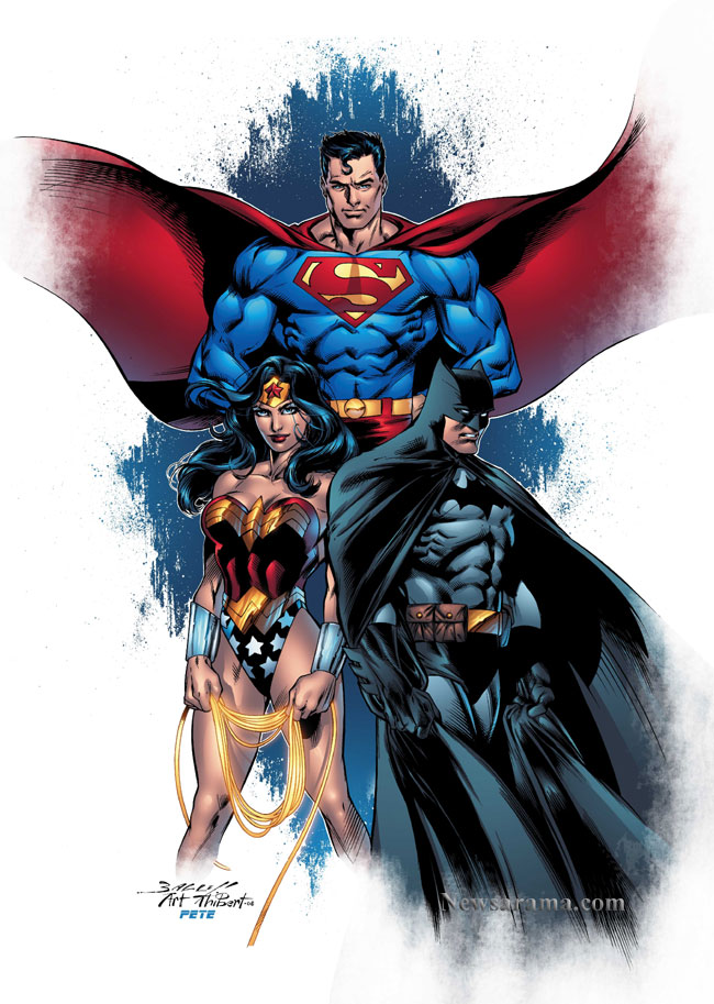 Superman batman and wonder woman