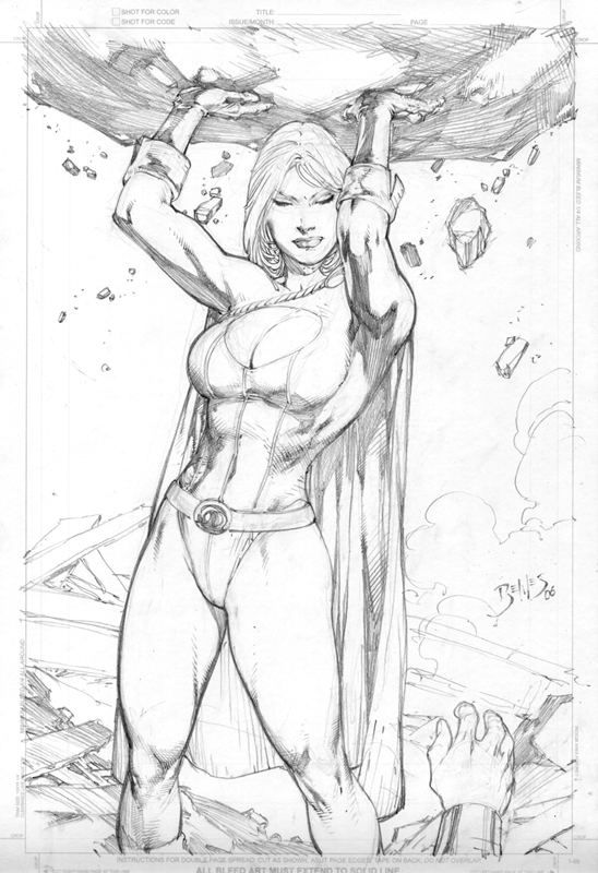 Kleurplaat Caitlin Powergirl Comic Art Community Gallery Of Comic Art