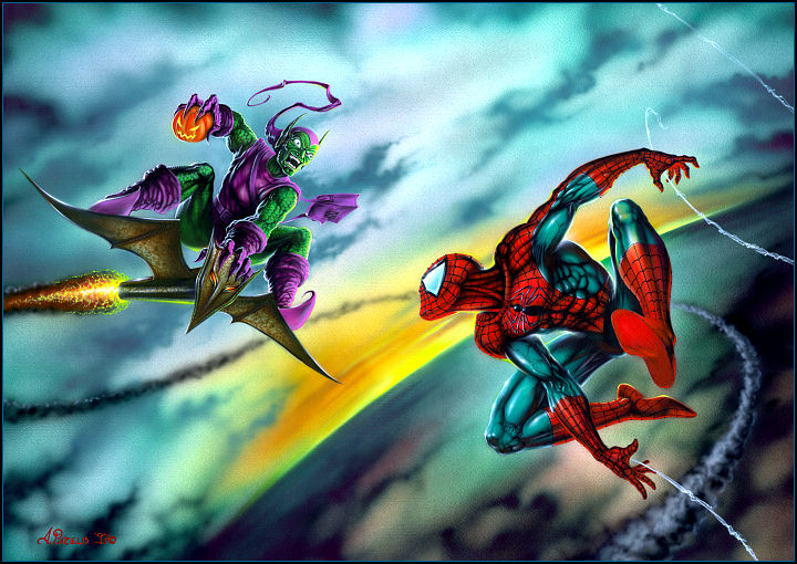 Spiderman vs green goblin movie