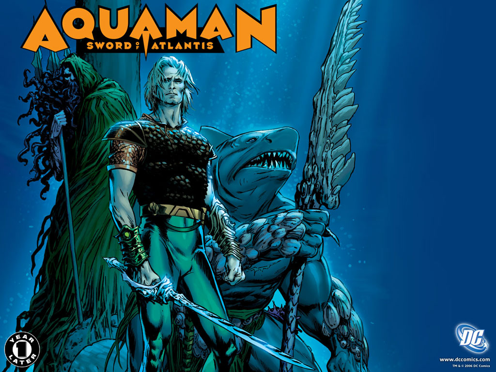 AQUAMAN: SWORD OF ATLANTIS-ONCE & FUTURE wallpaper//Carlos Pacheco