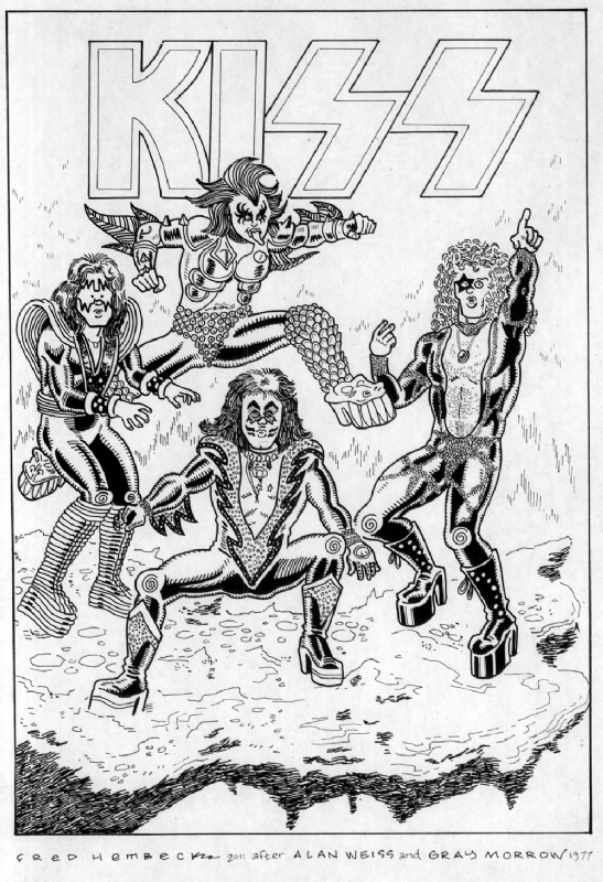 Marvel comics kiss super special 77 cover fred hembeck