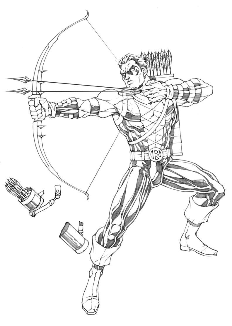 Bow And Arrow Coloring Pages